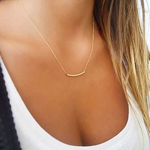 Jewelry - NWT!!! 14k Yellow Gold Plated Curved Tube Necklace